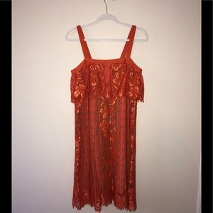 Tracy Reese Dresses - NWT Tracy Reese Lace Cami African Orange Dress